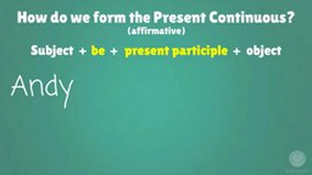 Present Continuous (or BE + V-ING)
