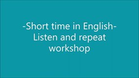 Short time in English 1