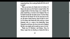 Sir Charles Baskerville chapter 6 Hound of the Baskervilles